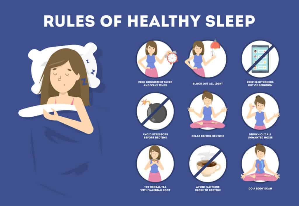 Rule of healthy sleep