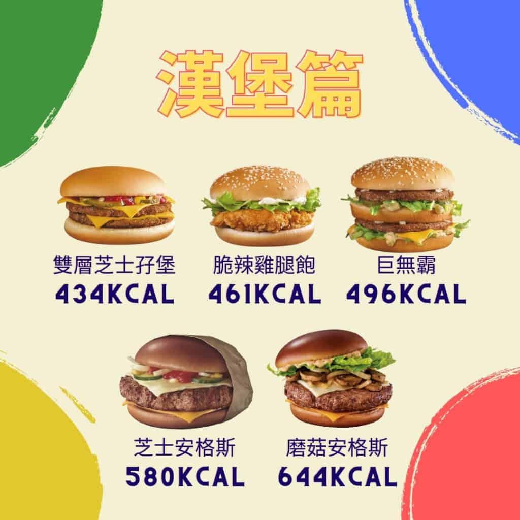 麥當勞熱量漢堡篇2