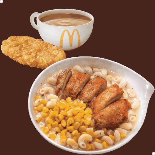 板燒雞腿扭扭粉早晨套餐